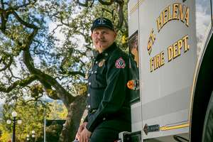 St. Helena Fire Chief John Sorenson in St Helena, Calif., is seen on November 4th, 2017.