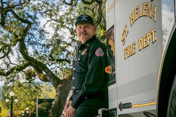 St. Helena Fire Chief John Sorenson in St Helena, Calif., is seen on November 4th, 2017.
