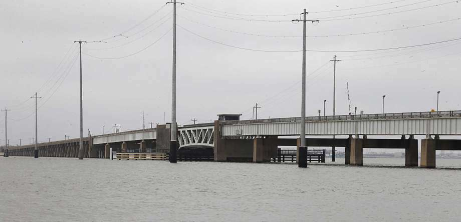 A Galveston County bond package would fund repair of the drawbridge on the Pelican Island Causeway.