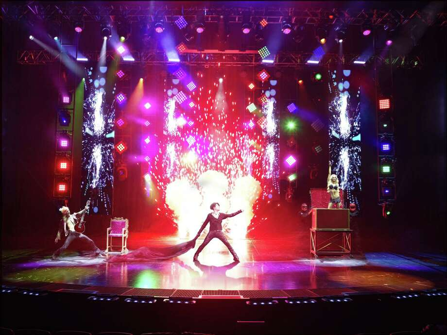 Video screens add to the pyrotechnics at a Criss Angel show. Photo: 2016 APWI / Contributed / Jerry Metellus Photography, Inc.