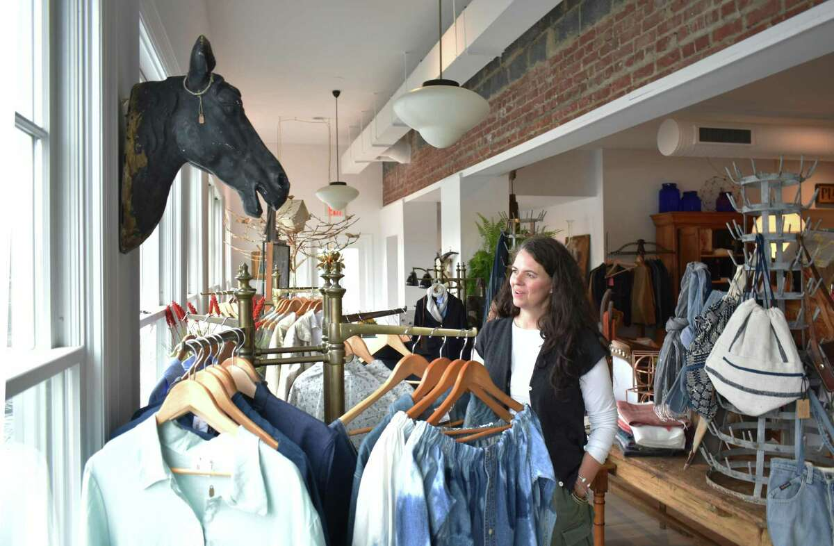 The Collected Home creator Clarice King, on Monday, Nov. 6, 2017, entering her store's first full week in business at 161 Rowayton Ave. in Norwalk, Conn.