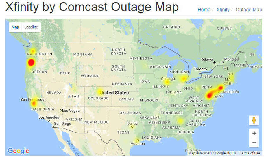 Indiana And Michigan Power Outage Map.Comcast Has Nationwide Internet Outage Houston Customers Affected