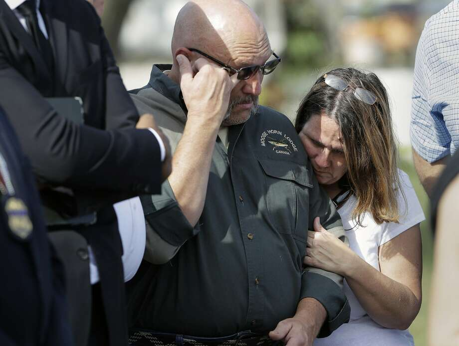 Pastor Frank Pomeroy and his wife, Sherri, lost their 14-year-old daughter, Annabelle, in the First Baptist Church shooting. Photo: Eric Gay, Associated Press