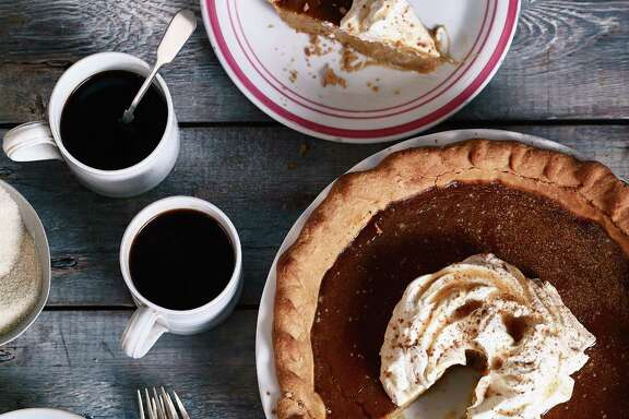 Brown Butter Salted Maple Pumpkin Pie is a rich, classic autumn-holiday offering.