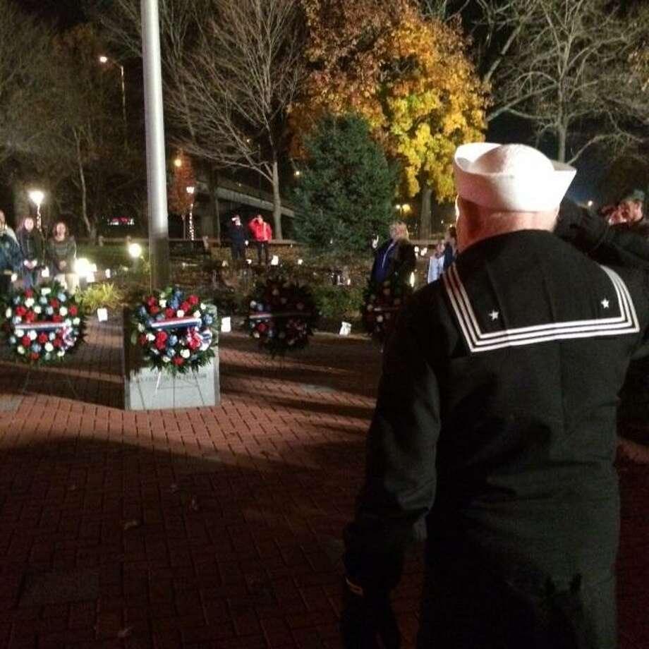 Veterans are honored at a vigil in Seymour Photo: Jean Falbo-sosnovich