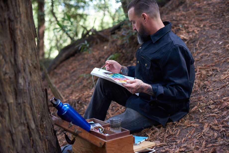 "Artist and author Obi Kaufmann, above, has produced ""The California Field Atlas"" (below) for Heyday Books. Photo: Courtesy Obi Kaufmann"