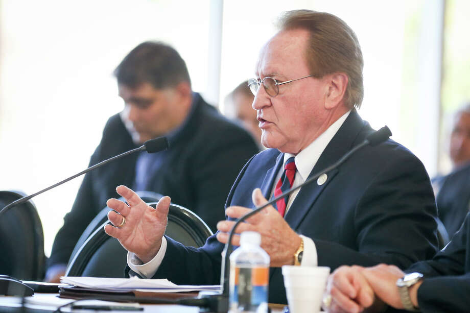 State Rep. Mark Keough speaks during the Texas Senate Committee on Agriculture, Water, and Rural Affairs interim hearing on Monday, Oct. 16, 2017, at the East Montgomery County Improvement District in New Caney. Photo: Michael Minasi, Staff Photographer / © 2017 Houston Chronicle