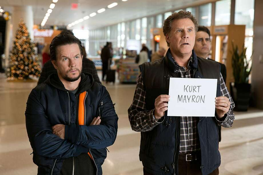 Biological dad Dusty (Mark Wahlberg, left) and stepdad Brad (Will Ferrell) await their fathers. Photo: Paramount Pictures, TNS