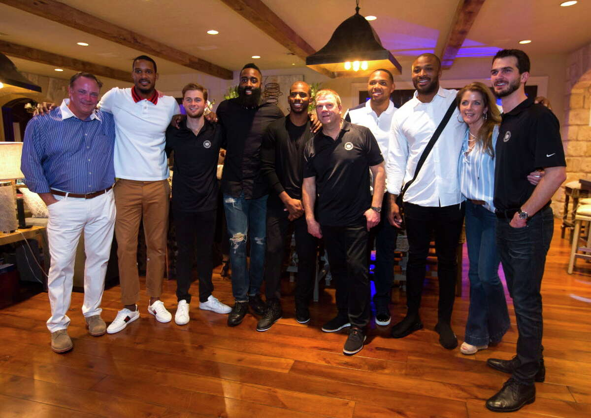 Members of the Rockets organization and the Fertitta family at the Houston Police Foundation Board of Director's