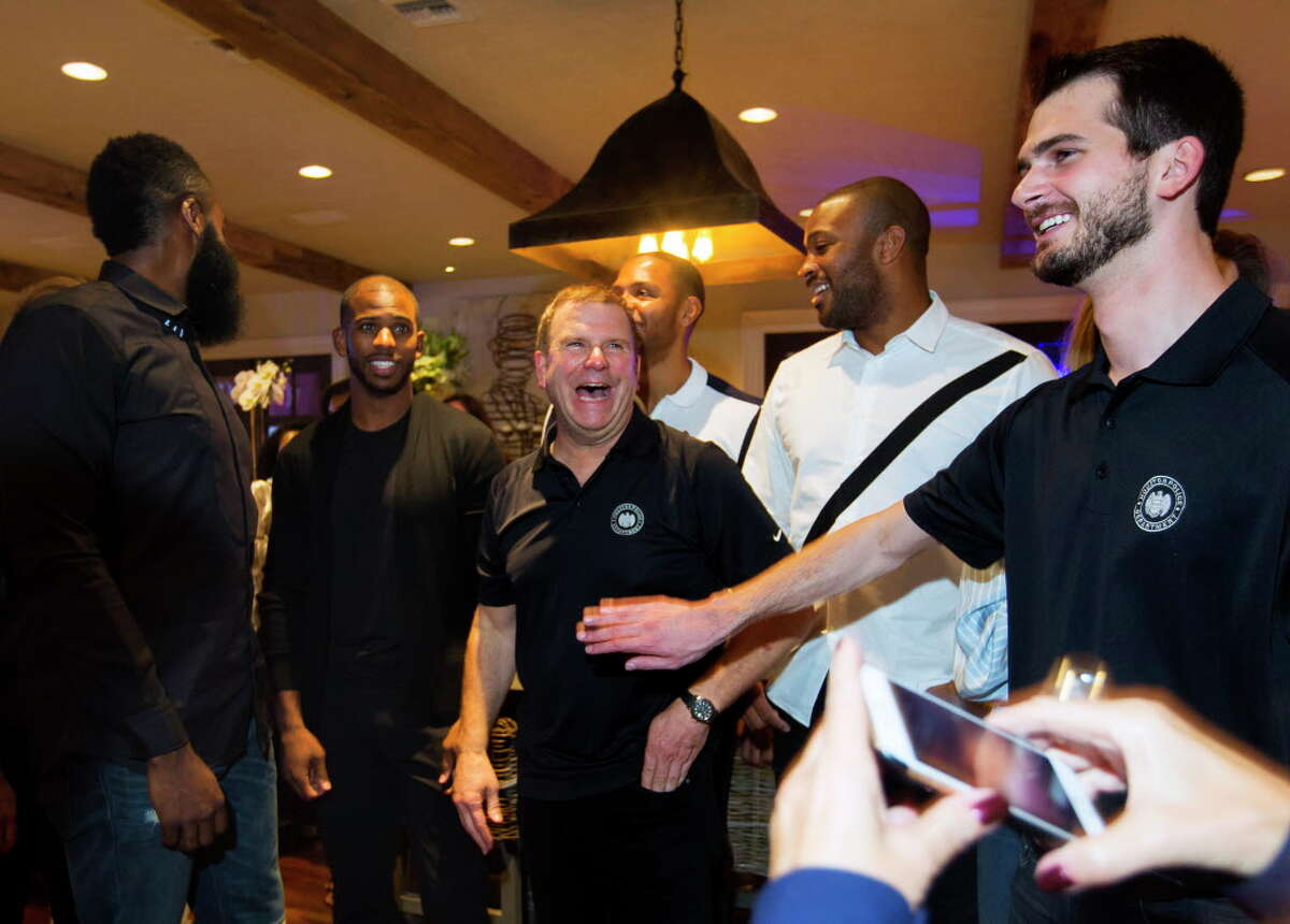 Tilman Fertitta laughs during the Houston Police Foundation Board of Director's