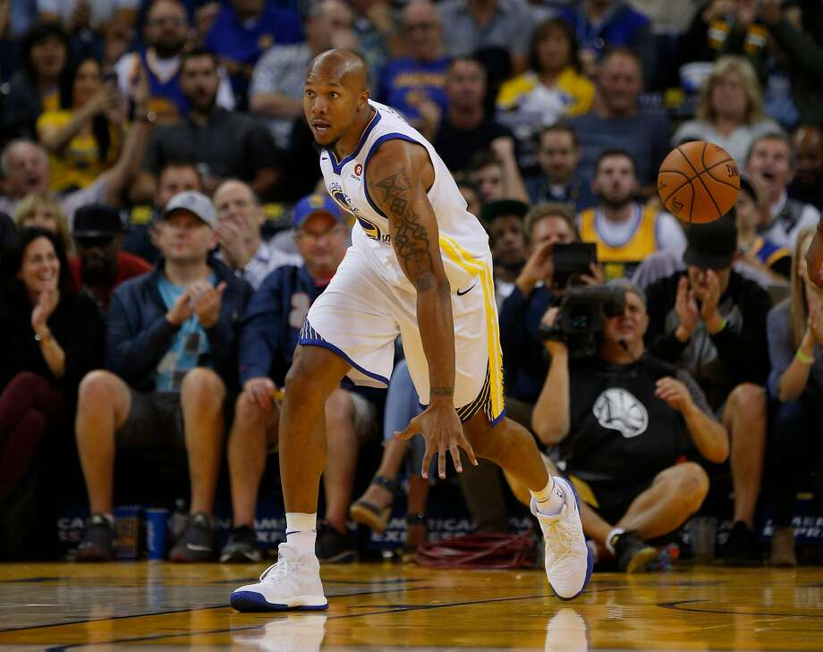 Golden State Warriors forward David West (3) during the fourth quarter of an NBA game between the Golden State Warriors and Toronto Raptors at Oracle Arena on Wednesday, Oct. 25, 2017, in Oakland, Calif. The Warriors won 117-112. Photo: Santiago Mejia, The Chronicle