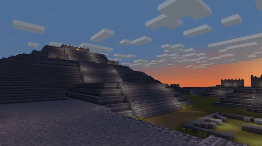 """As part of its """"Teotihuacan: City of Water, City of Fire"""" exhibit, the de Young created an interactive Minecraft map of the ancient Mexican city. Photo:  Courtesy Of The Fine Arts Museums Of California"""
