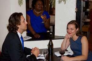 Sergey Khalikulov (l.), Aisha Campbell and Jordan Amann