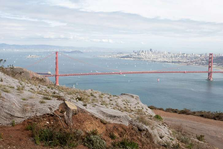 The view from Hawk Hill in the Marin Headlands overlooks the entire city of San Francisco on Friday, October 5, 2012.