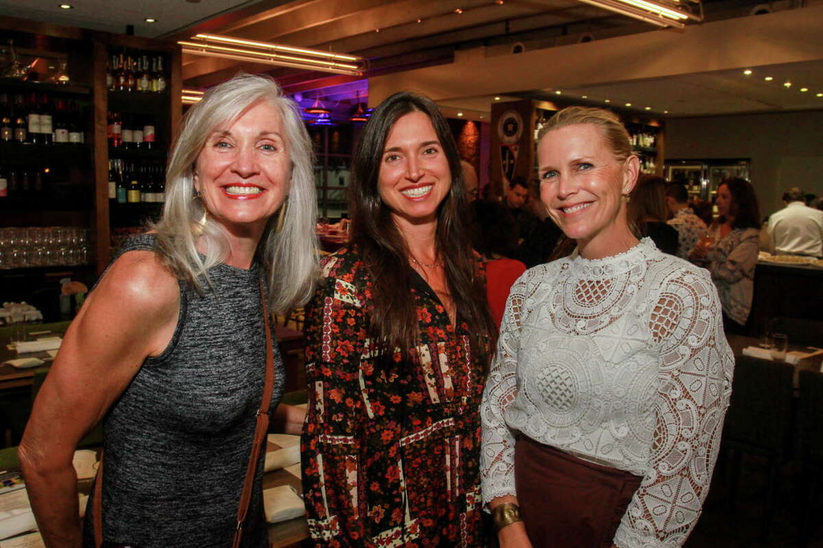 Susy Foster, from left, Mara Izzo and Heather Houston at Sunday Supper. The event is hosted by chef Richard Kaplan and Weights + Measures, and will benefit the Urban Harvest Market program.