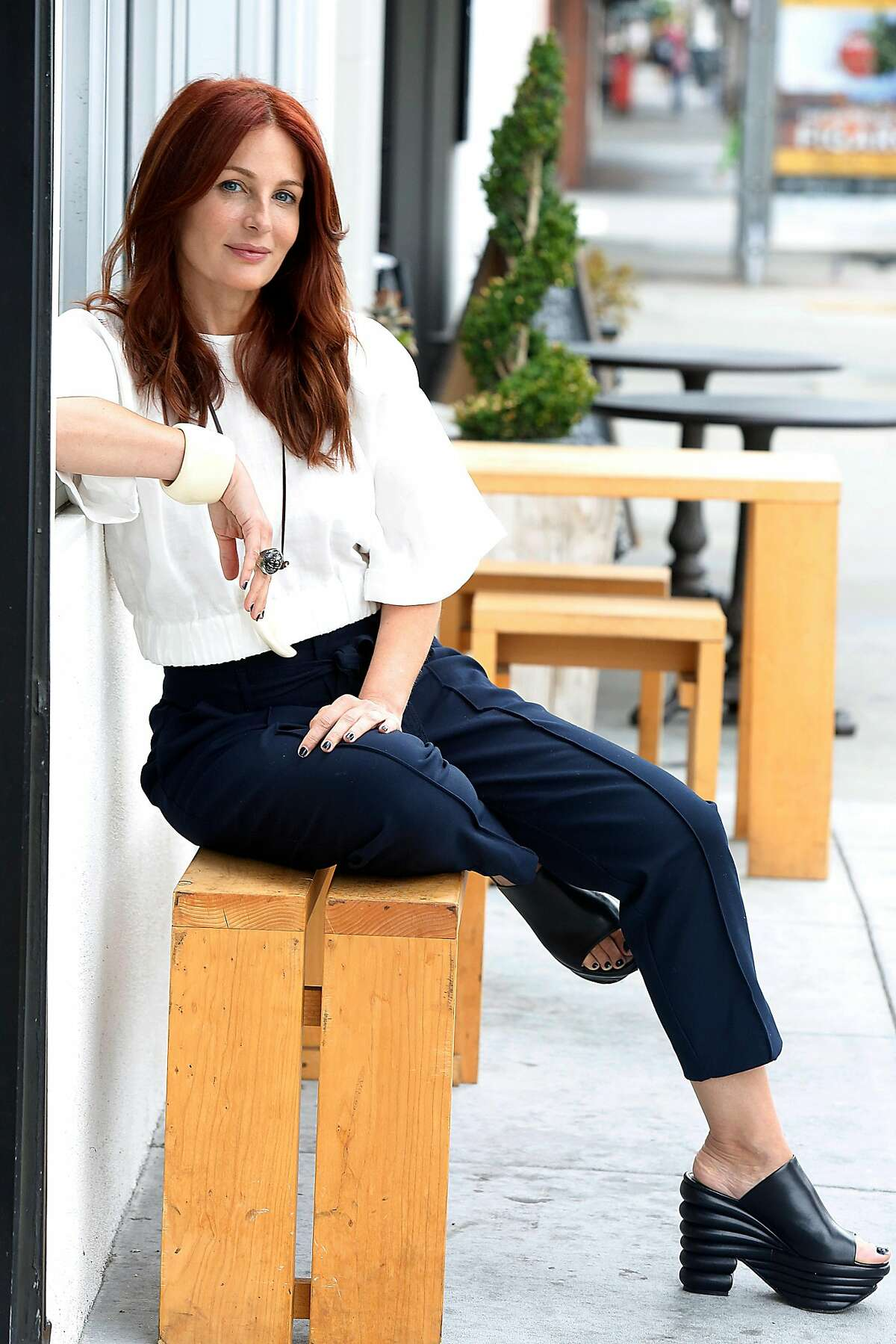 Owner Mo Clancy of Seed + Salt in front of her restaurant in San Francisco, Calif., on Wednesday, July 8, 2015.