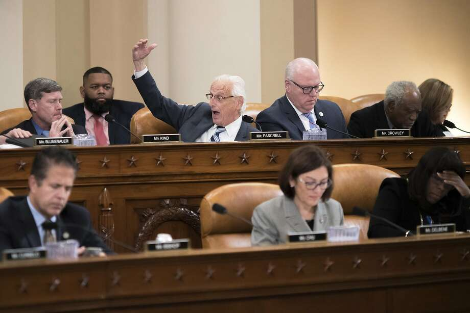 Rep. Bill Pascrell Jr. (D-N.J.) speaks during the House Ways and Means Committee tax reform bill markup on Capitol Hill in Washington, Nov. 6, 2017. The committee is considering and amending the bill, with the goal of passing it out to the House floor by the end of the week. (Tom Brenner/The New York Times) Photo: TOM BRENNER, NYT