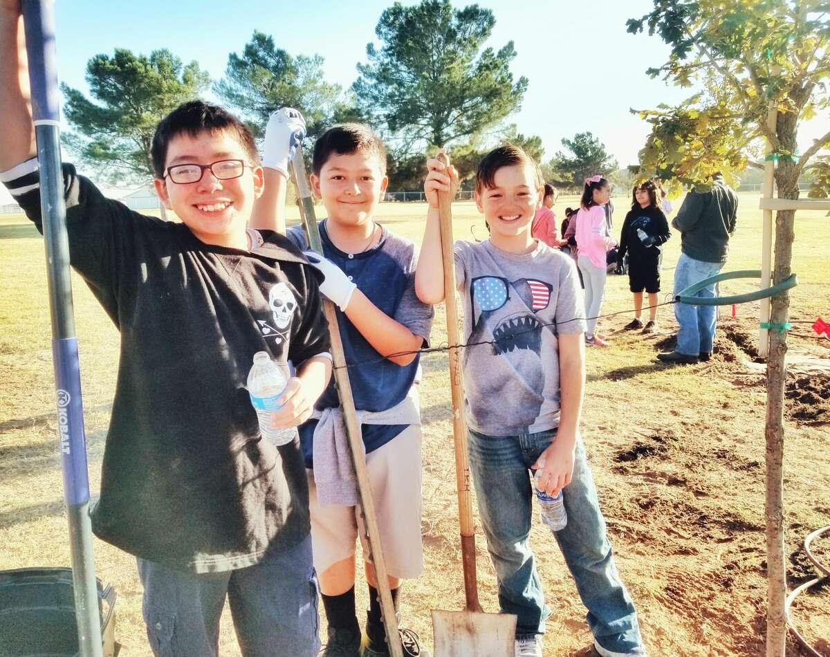 Joshua Rodriguez, from left, Ryan Aguilar and Dakota Green