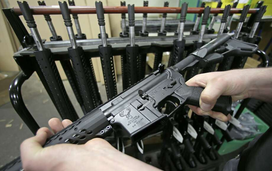 Devin Patrick Kelley used an AR-15 rifle similar to this, a civilian version of the standard U.S. military service rifle. Photo: Charles Krupa, ASSOCIATED PRESS