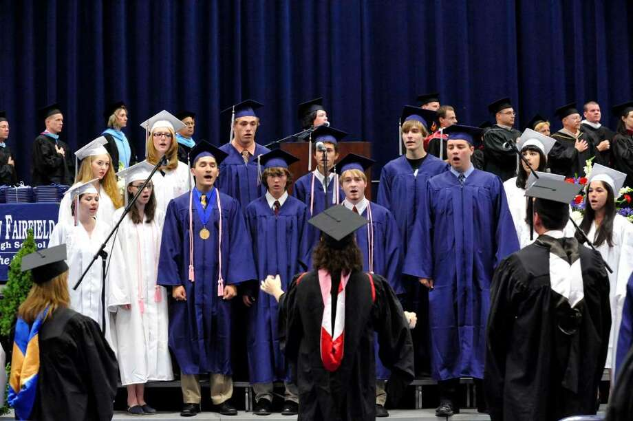 New Fairfield High School commencement exercises at the William O'Neill Convocation Center in Danbury, on Saturday, June 26, 2010. Photo: Michael Duffy / The News-Times