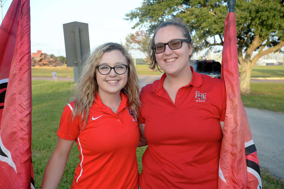 From left, Ashley Vickery and Kelly Radler at Lamar's Homecoming bonfire on Friday. Photo taken Friday, November 03, 2017 Guiseppe Barranco/The Enterprise Photo: Guiseppe Barranco, Photo Editor / Guiseppe Barranco ©