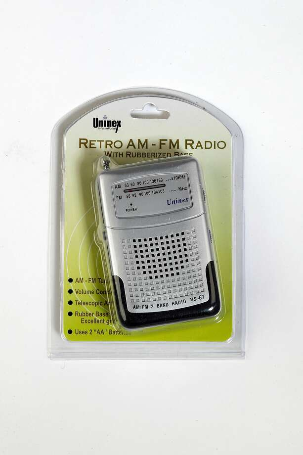 Emergency AM/FM radio from a full kit of disaster preparedness supplies. Photo: Carlos Avila Gonzalez, The Chronicle