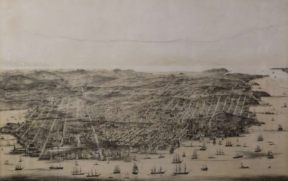 A 1860s-era lithograph print of San Francisco may fetch the owner a substantial amount of money this month. Photo: Clars Auction Gallery