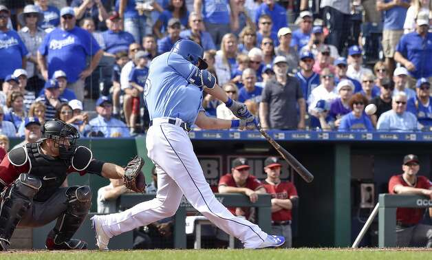 2. Eric Hosmer, 1B There's so much to like about Hosmer: A three-time Gold Glove winner, only 28, coming off perhaps his best all-around season, hitting .318 with a .385 on-base percentage and 25 home runs, and has been considered the leader of those Royals teams that went to back-to-back World Series and won the title in 2015. However, super-agent Scott Boras is already talking about asking for eight years and $200 million, in part because of his intangibles. And Boras will surely expect more than the seven years, $161 million the Orioles paid Chris Davis two winters ago. Hosmer is everything the Mets need, but even if they got creative and traded Dom Smith, they wouldn't meet the price tag. Prediction: Red Sox, seven years, $160 million. (John Sleezer/Kansas City Star/TNS) Photo: John Sleezer, TNS