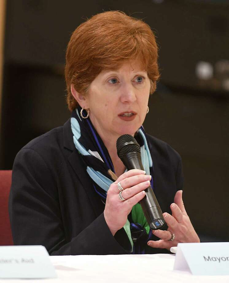 Albany Mayor Kathy Sheehan speaks about the Code Blue program during a press conference at the Capital City Rescue Mission on Monday, Nov. 6, 2017 in Albany, N.Y. (Lori Van Buren / Times Union) Photo: Lori Van Buren / 20042034A