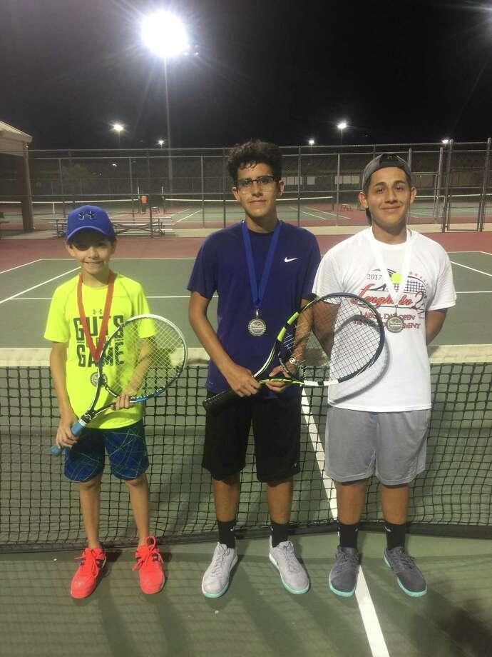 25th Annual Longhorn Fall Open Tennis Tournament: Boys Intermediate Singles: 1st - Adolfo Lopez, 2nd - Alfredo Ramirez, 3rd - Daniel Arguello Photo: Courtesy Photo