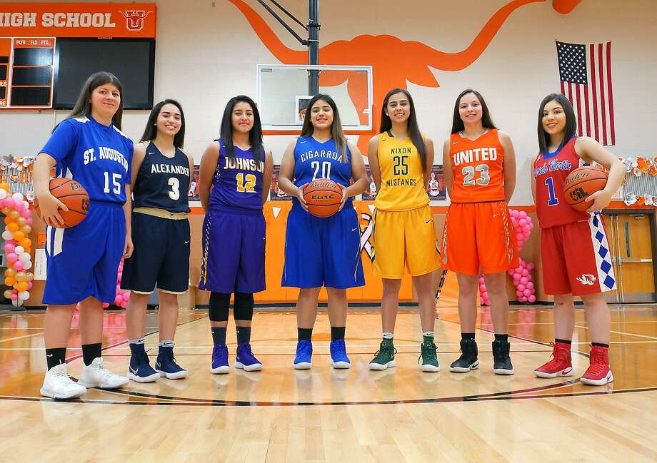 Maria Fernanda Vargas, Valerie Lopez, Deyanira Martinez, Lori De Leon, Jennifer Peña, Natalia Treviño and Cielo Lares are leading their teams into the 2017-18 season. Photo: Cuate Santos /Laredo Morning Times / Laredo Morning Times