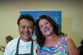 Hugo Ortega and his wife Tracy Vaught at the Top 100 Culinary Stars event at the Houston Chronicle on Thursday, Oct. 27, 2017, in Houston.