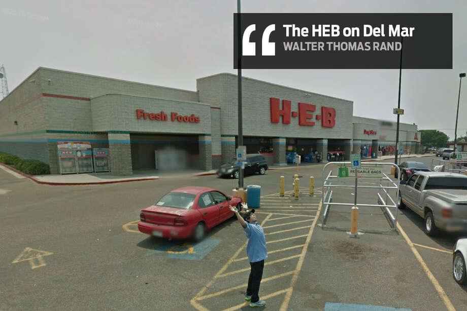 "Walter Thomas Rand: ""In H.E.B. on Del Mar"" Photo: Facebook"