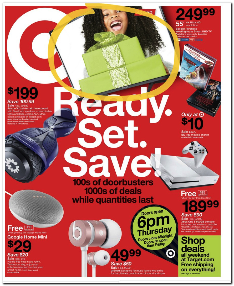 target releases their 2017 black friday doorbuster ad circular houston chronicle. Black Bedroom Furniture Sets. Home Design Ideas