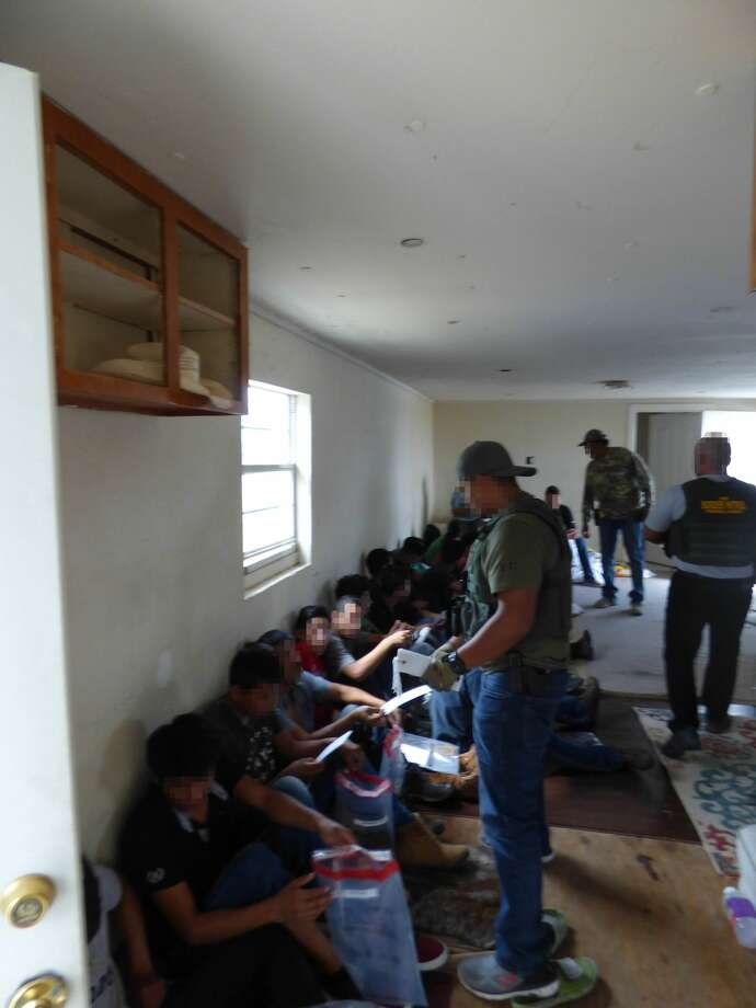 Border Patrol agents found 32 undocumented immigrants in two stash houses in the Rio Grande Valley. The immigrants came to the United States from Guatemala, Honduras, El Salvador and Mexico. Photo: Contributed Photo