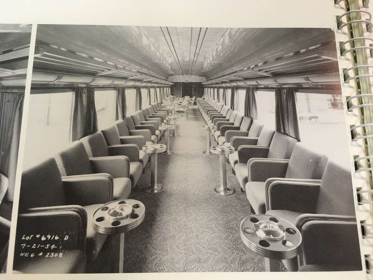 The inside of the New Canaan Car, a members-only area that ran on the New Haven Railroad from 1908 to 1976.
