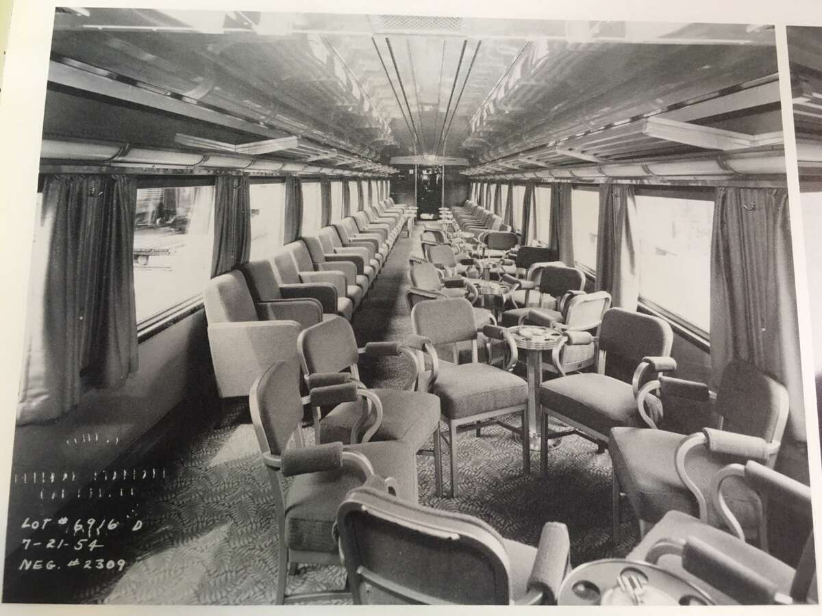 The inside of the New Canaan Car, a members-only area that ran on the New Haven Railroad from 1908 to 1976. >> Click through for images from another vestige of Metro-North's past - the bar car.