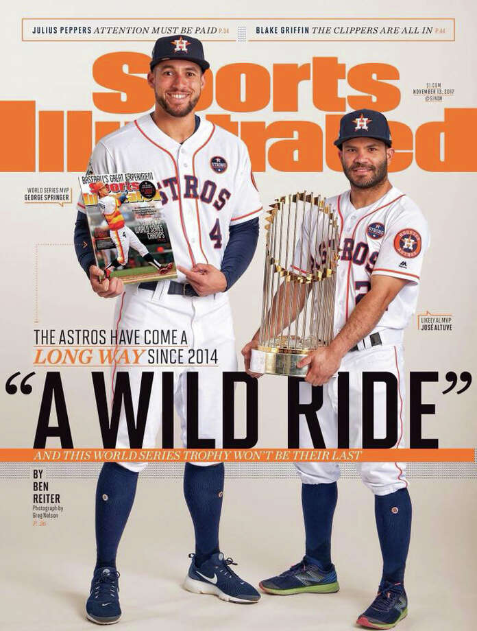 PHOTOS: Sports Illustrated covers featuring Houston teamsThe Astros' George Springer and Jose Altuve appear on the cover of the Nov. 13, 2017 issue of Sports Illustrated.Browse through the photos above for a look at Sports Illustrated covers featuring Houston teams. Photo: Sports Illustrated