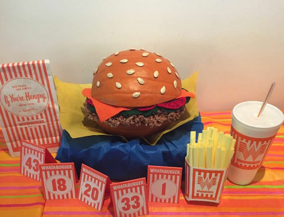Emily Weigand and Lily Aung of Austin, Texas carved a Whataburger themed pumpkin for the 2017 Halloween season.Learn 10 things you didn't know about Whataburger in the gallery ahead. Photo: Emily Weigland