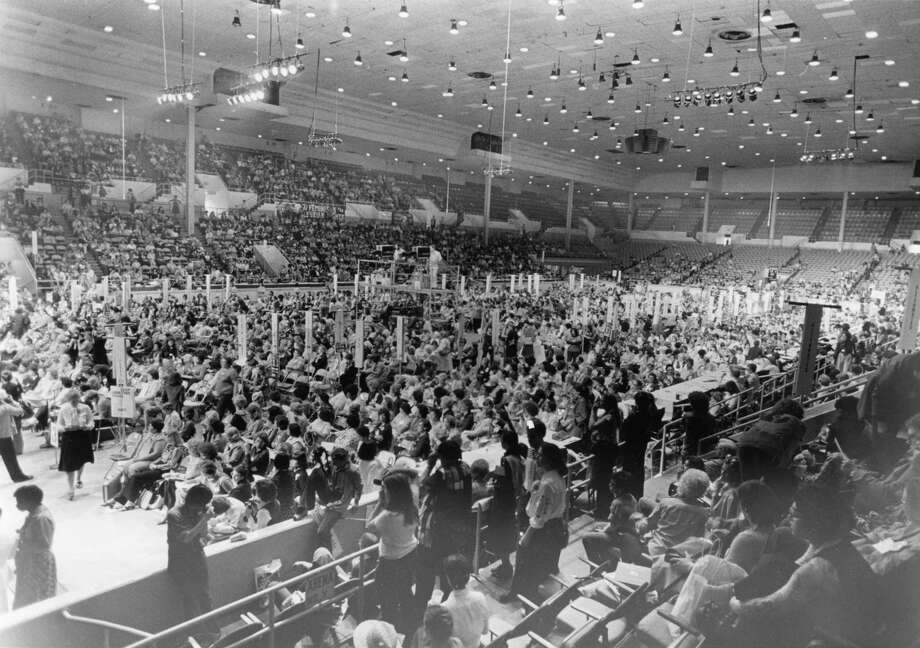 The crowd of delegates at the National Women's Conference in Houston. Photo: Houston Chronicle / Houston Chronicle