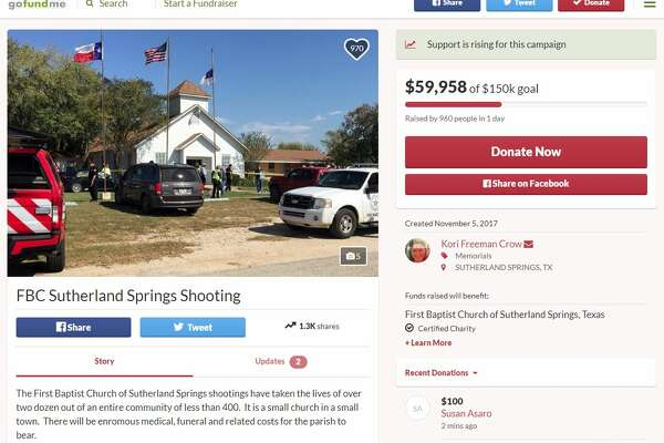 GoFundMe donations are to be directed immediately to the parish. The fundraiser was set up almost immediately after the shooting and by Monday evening, more than $23,000 had been raised toward a goal of $50,000.