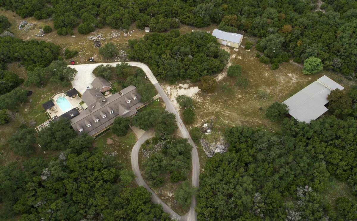 An aerial view shows the property where Devin Patrick Kelley lived in New Braunfels. Two neighbors said they had been hearing gunfire nearby in recent weeks. One said it sometimes lasted for hours, with 200 or more shots.