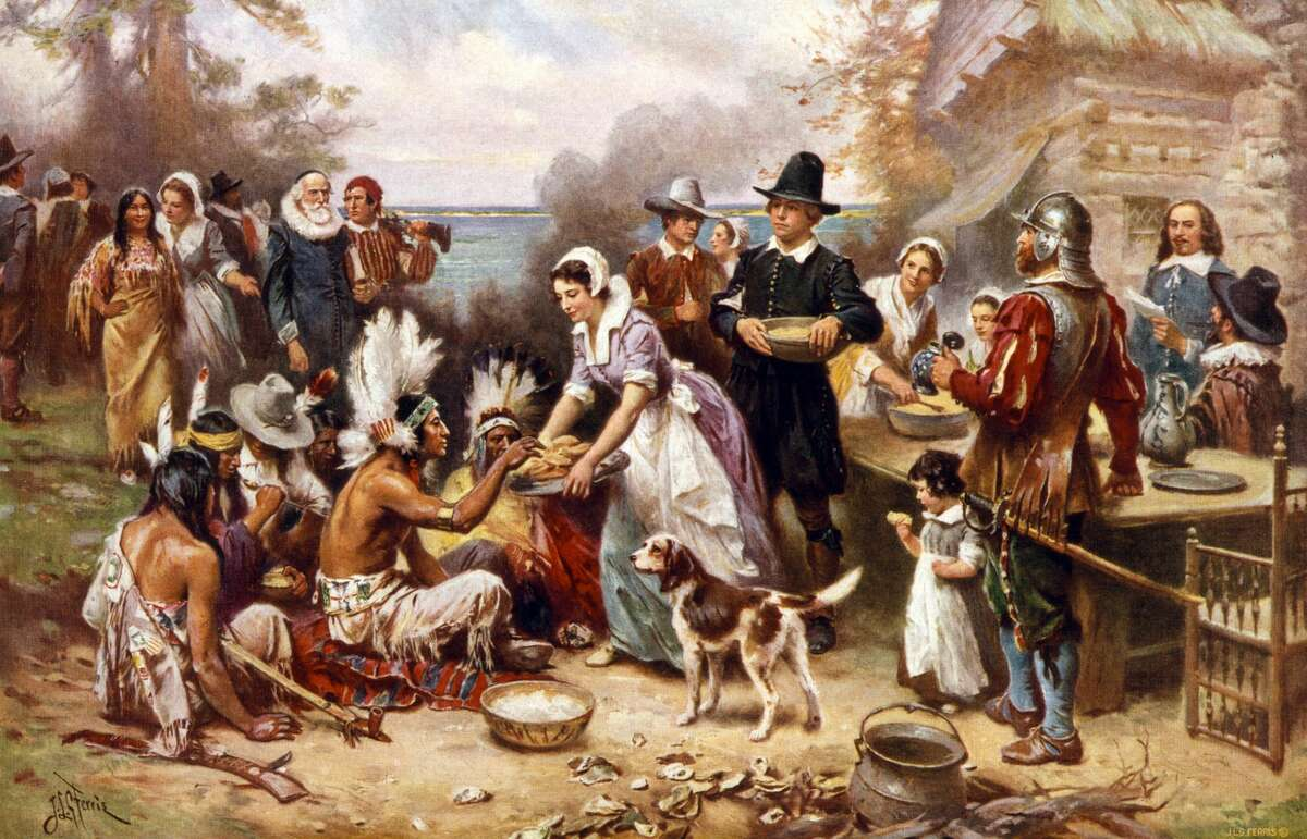 1. The first Thanksgiving was actually a three-day celebration. Today, Thanksgiving is one day - maybe two, if you count Black Friday. But the Pilgrims wanted to party even harder. Gov. William Bradford organized the feast, inviting the Plymouth colonists' Native American allies. When the Wampanoag Indian guests came and joined the Pilgrims, they decided to extend the affair.