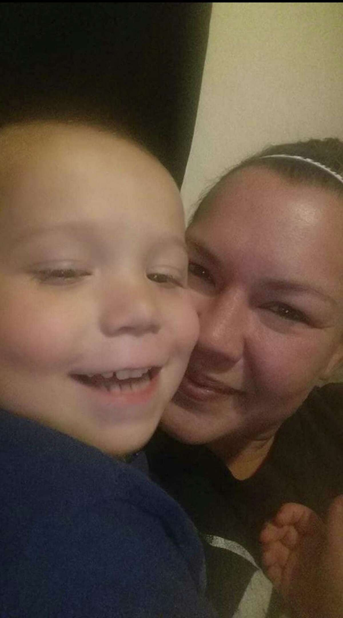 Joann Ward and her son, Ryland Ward. The little boy, who was shot five times in the Sutherland Springs church massacre turned 6 during his hospital stay. He was released from the hospital Jan. 11, 2018.
