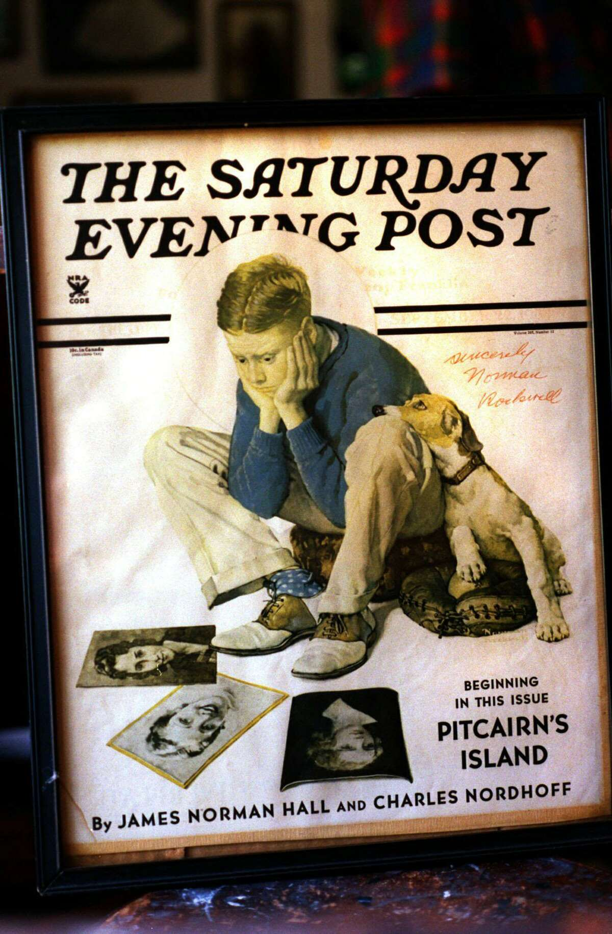 The Sept. 15, 1934, Saturday Evening Post cover by Norman Rockwell featured neighbor John Cullen Murphy as the model.