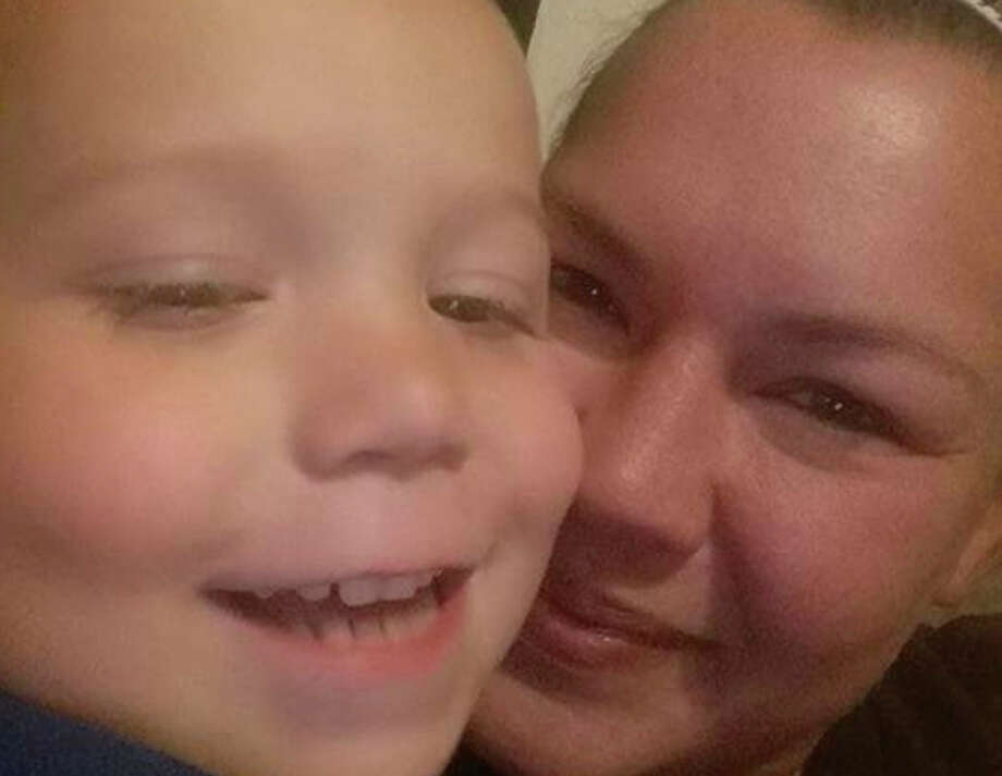 Ryland Ward, a 5-year-old survivor from November's church shooting in Sutherland Springs, is pictured with his mother, Joann Ward. She died trying to protect him and her three daughters. Ward is expected to stay in the hospital through Christmas and his family is asking people to send him cards this holiday season.