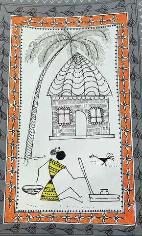 Stamford artist passionate about Warli, a centuries-old art