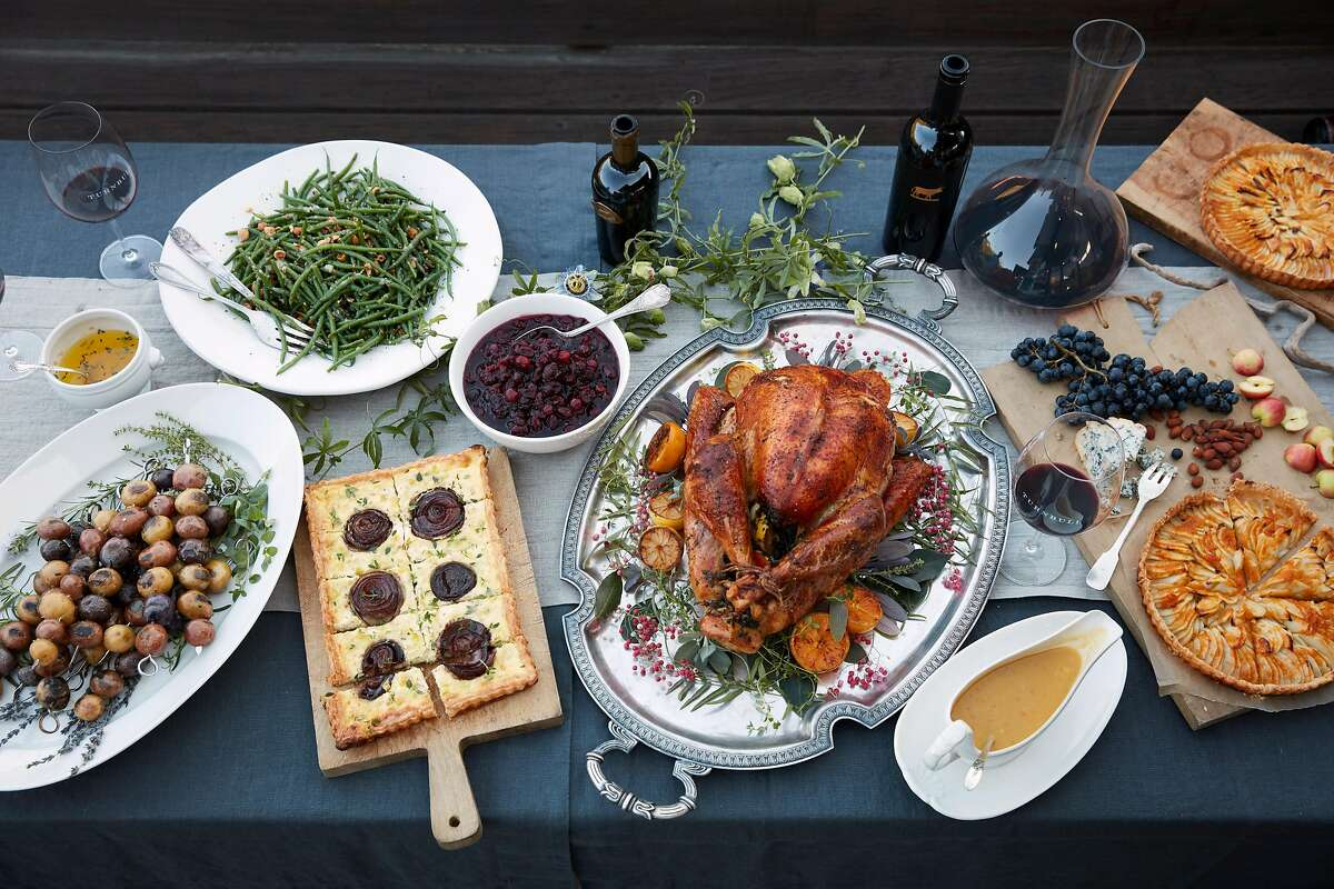 Zoe Johns, vintner and president of Turnbull Wines, shared a Thanksgiving dinner with friends and family on Thursday, Nov. 2, 2017 in Stinson Beach, Calif.