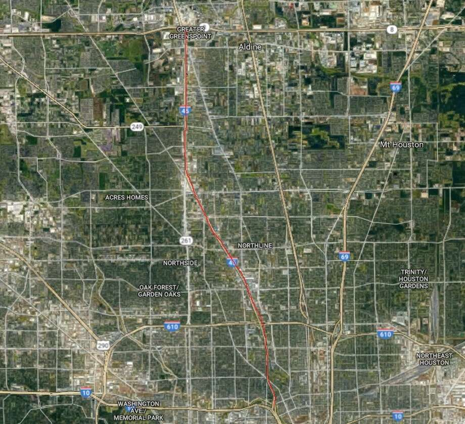 North FreewayDescription: Expand from downtown to Beltway 8Estimated completion date: TBD, anticipating environmental clearance in 2018Cost: $400 million Photo: Google Earth
