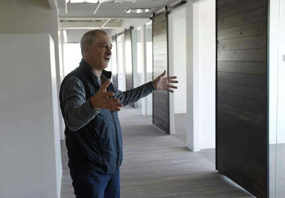 ClearRock Properties Managing Principal Doug Winshall shows office space at 850 Canal St. in Stamford, Conn., on Tuesday, Oct. 17, 2017. Photo: Tyler Sizemore / Hearst Connecticut Media / Greenwich Time